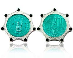Atlantis Geocoin Foggy Silber Smaragd