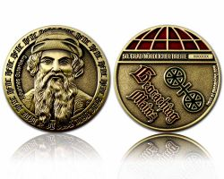 Mainz Geocoin Antique Gold