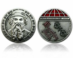 Mainz Geocoin Antique Silver