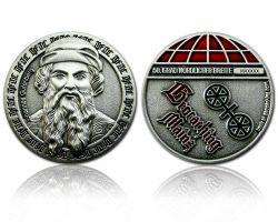 Mainz Geocoin Antik Silber