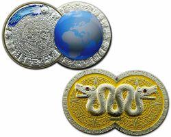Weltuntergang Geocoin Satin Silber LE 100