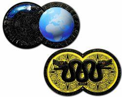 Weltuntergang Geocoin Black Nickel LE 100
