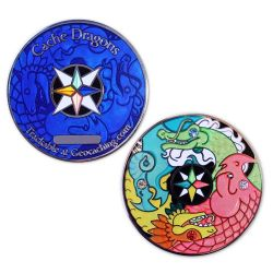 Cache Dragons Geocoin Limited WINTER Edition
