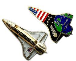 Space Shuttle Geocoin 3D Gold