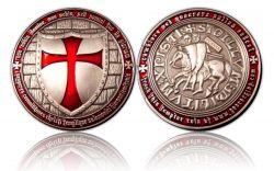 Templar Geocoin Antik Silber