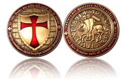 Templar Geocoin Antik Gold