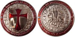 Templar Geocoin Nickel