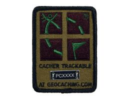 Trackable Camo Geocaching Patch