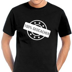 Geocaching T-Shirt | 100% Geocacher black