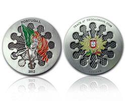 Portugal 2012 Geocoin Antik Silber