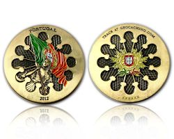 Portugal 2012 Geocoin Antique Gold