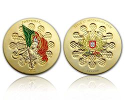 Portugal 2012 Geocoin Satin Gold XLE 75