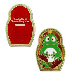 Nesting Doll Geocoin - Signal the Frog