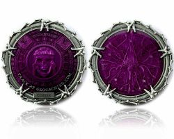 Pirate Bones Silber Purple Edition Geocoin