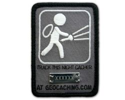 Nachtcacher Geocaching Patch (glow in the dark)