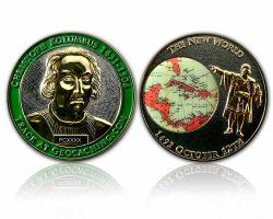 Christoph Kolumbus Geocoin Silber / Gold XLE 50