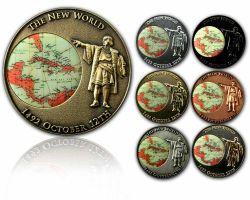 Christoph Kolumbus Geocoin Sammler Set (7 COINS)