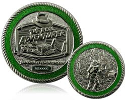 The Real Adventurer Jungle Geocoin Satin Silber LE 150