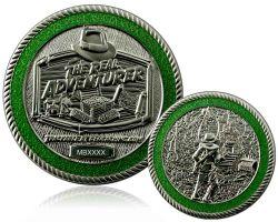 The Real Adventurer Jungle Geocoin Satin Silber LE 150