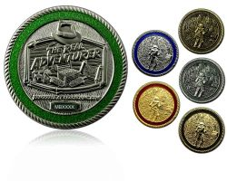The Real Adventurer Jungle Geocoin SET (6 COINS)