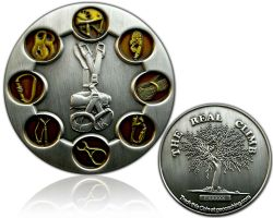 The Real Climb Geocoin Antik Silber