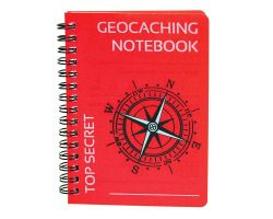CacheQuarter Geocaching Notebook A6 red
