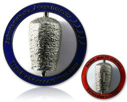 Doenerstag Geocoin Polished Silver
