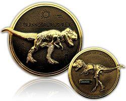 Tyrannosaurus Rex Geocoin Gold / Black