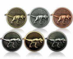 Tyrannosaurus Rex Geocoin Sammler SET (6 COINS)