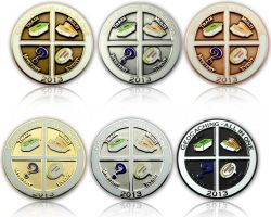 Geocaching - All In One Geocoin 2013 SET (6 COINS)