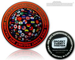Projekt Twenty Thirteen Event Geocoin Black Nickel
