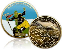 Mount Everest Geocoin Antik Gold