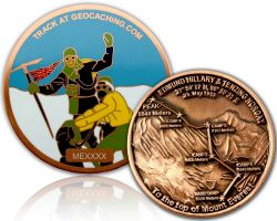Mount Everest Geocoin Antik Kupfer XLE 75