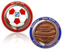 Munich Geocoin 2013 Antique Copper XLE 75