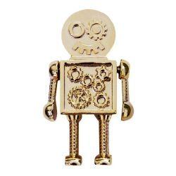 Steampunk Robot Geocoin Gold Version inkl Travel Tag