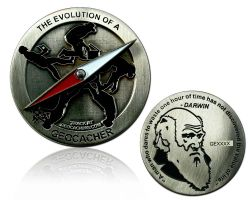 The Evolution of a Geocacher Geocoin Antik Silber