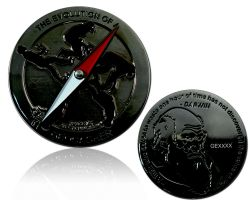 The Evolution of a Geocacher Geocoin Black Nickel LE 100