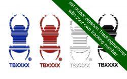 Groundspeak Travelbug® Aufkleber mit deinem Trackingcode