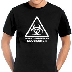 Geocaching T-Shirt | Geocaching - Highly Infective - viele Farbe