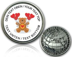 Teddy Geocoin with your Text