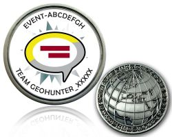 Geocaching Event Geocoin V1 with your text