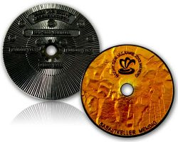 Nacht der Vulkane Event Geocoin Black Nickel / Orange RE