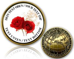Rose Congratulation Geocoin with your Text