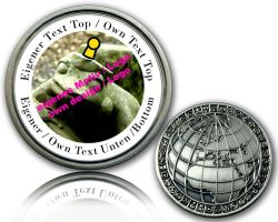 My World Geocoin mit deinem Foto und Text