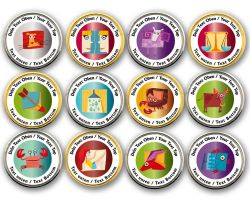 Zodiac Sign Geocoin with your Text