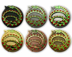 Year of the Snake Geocoin Sammler SET (6 COINS)