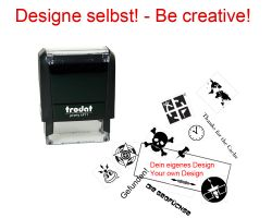 Geocaching Stamp with your Design - Printy 38 x 14