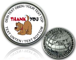 Thank you Geocoin mit deinem Text