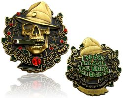 Dead Man Party Geocoin Antik Bronze