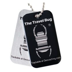 Geocaching QR Travel Bug® - Schwarz
